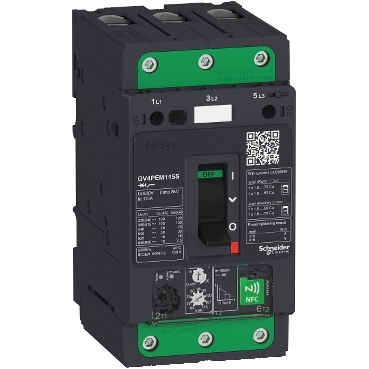TeSys GV4P multifonction - thermal magnetic motor breaker 2A to 115A - EverLink connection - toggle
