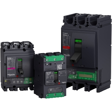 Compact NSX & NSXm molded case circuit breakers 3 pole packshot (MCCB)