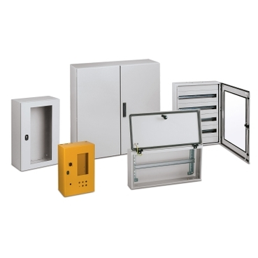 Steel wall-mounting enclosures