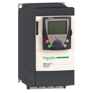 Variable speed drive Altivar 71 UL type 1/IP20 single phase supply voltage: 200…240V 50/60 Hz, 2,2 kW 3 HP