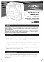 Installation Instructions - F2195/01 - 56RC Series Residual Current Device (RCD), 19277