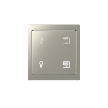 KNX Push-button Pro with D-Life Metall frame, nickel