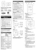 Residual Current Device (RCD) Installation Instructions
