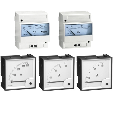 Panel & DIN-rail mounted Ammeters and Voltmeters