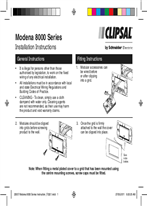 Modena 8000 Series Installation Instructions
