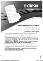 Installation Instructions - F940/04 - 66CV Series Switched Socket Outlets, 22999