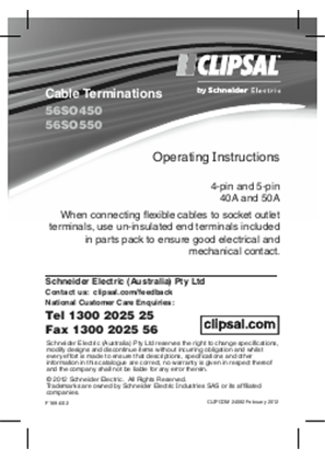 Installation Instructions - F1694/02 - 56SO450, 56SO550 Cable Terminations, 24082
