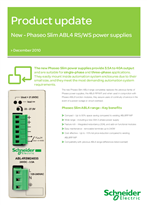 Phaseo Slim ABL4 RS/WS power supplies - Update