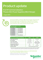 End Of Commercialisation Phaseo Slim Power Supplies (ABL4 Range)