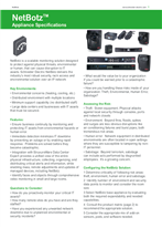 NetBotz Security & Environmental Monitoring - Appliance Specifications