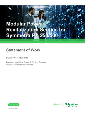 Modular Power Revitalization Service for Symmetra PX 250/500