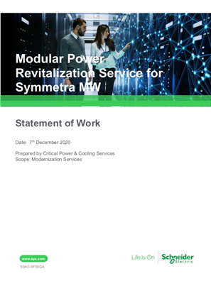 Modular Power Revitalization Service for Symmetra MW