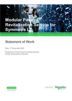 Modular Power Revitalization Service (MPRS) for Symmetra LX