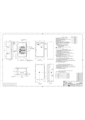 Outline Drawing | ASCO 4000/7000 SERIES Transfer Switch (ATS/ACTS/ADTS) | 600-1000 Amps | Type 3R/4/4X/12 | Frame H | Front Connected | 713200-008