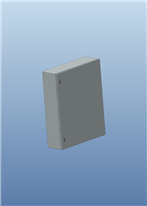 CAD Drawing - 3D STP Format - CRN plain door with mounting plate H1000xW800xD250