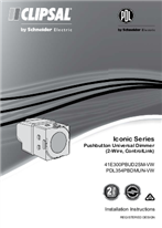 Iconic Series Pushbutton Universal Dimmer (2-Wire, ControlLink)