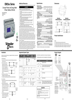 PowerLogic™ EM35xx Series Compact Power and Energy Meter Quick Install Guide