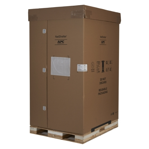 NetShelter SX 42U 600mm Wide x 1070mm Deep Enclosure with Sides Black -2000 lbs. Shock Packaging Front Left