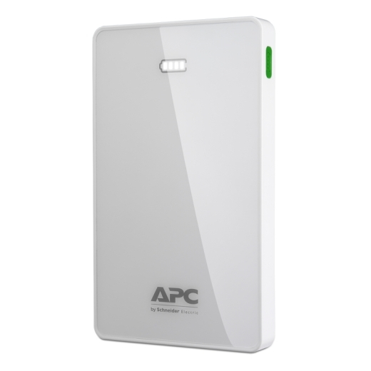 APC Mobile Power Pack, 10000mAh Li-polymer, White ( EMEA/CIS/MEA) Front Left