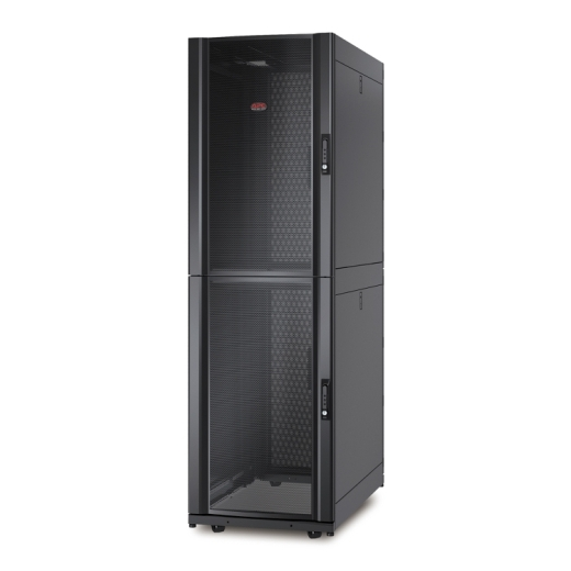 NetShelter SX Colocation 2 x 20U 600mm Wide x 1070mm Deep Enclosure with Sides Black Front Left