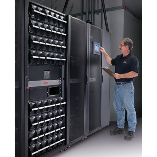 Scheduled Assembly Service 7X24 for (1) Symmetra 500kW UPS, up to (4) XR Frames and PDU Front Left