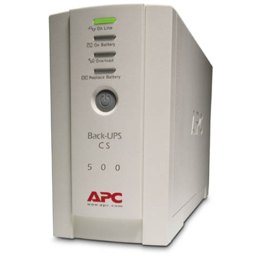 APC BACK-UPS CS 500VA 230V ENGLISH Front Left